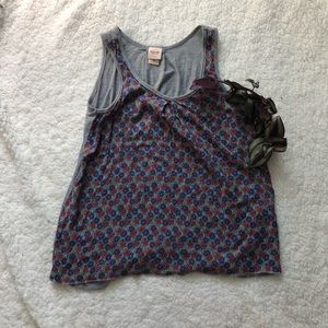 Mossimo floral tank top XS